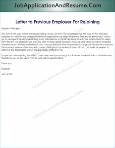 request for information from previous employer